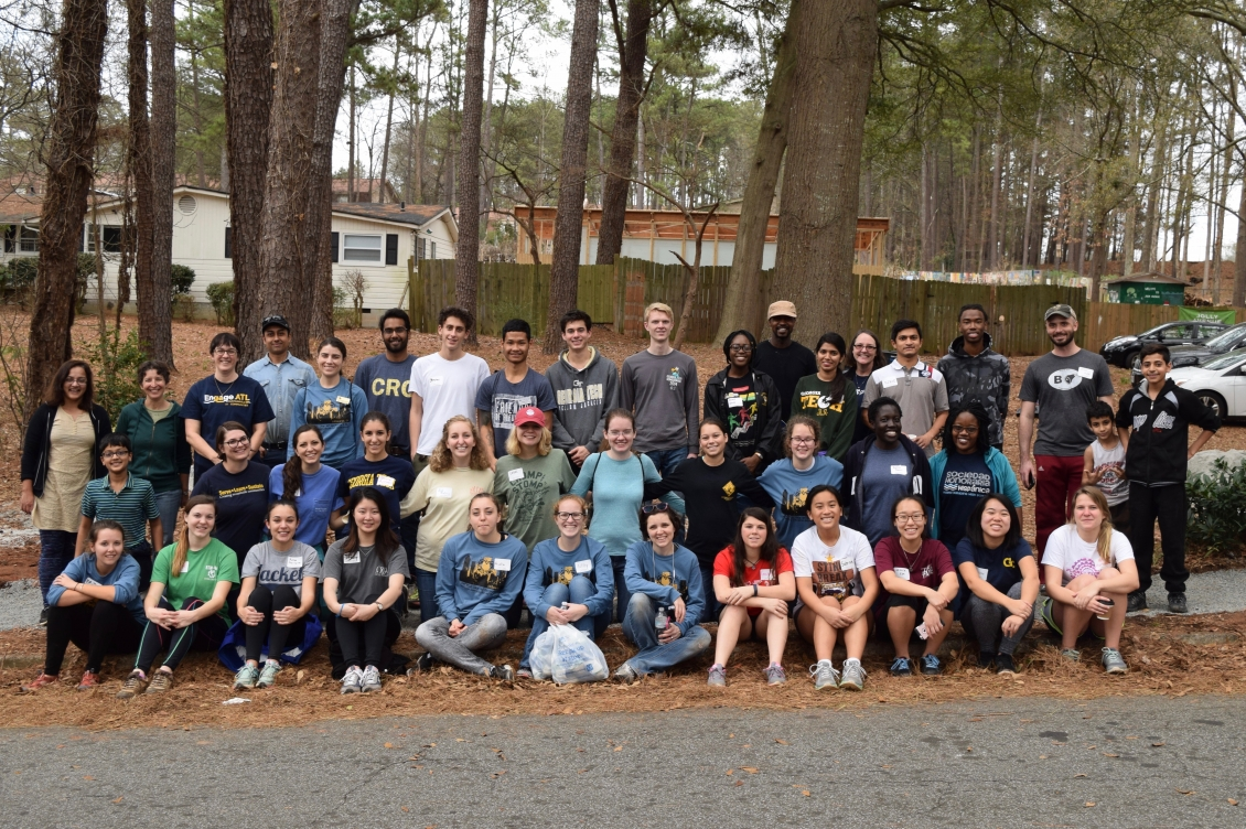 MLK Day of Service participants
